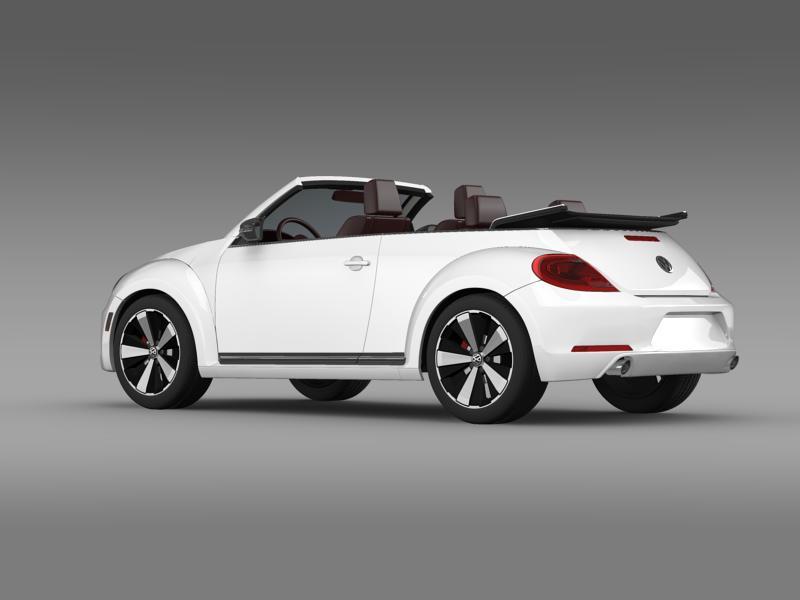 vw beetle cabrio 2013 3d model 3ds max fbx c4d lwo ma mb hrc xsi obj 147380