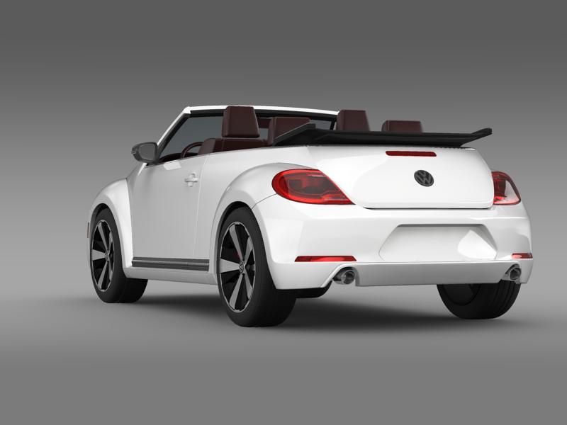 vw beetle cabrio 2013 3d model 3ds max fbx c4d lwo ma mb hrc xsi obj 147381