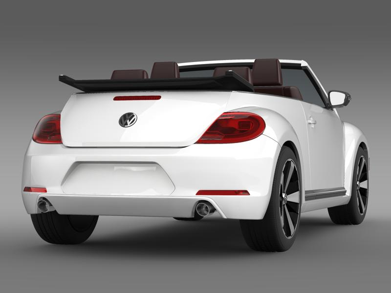 vw beetle cabrio 2013 3d model 3ds max fbx c4d lwo ma mb hrc xsi obj 147382