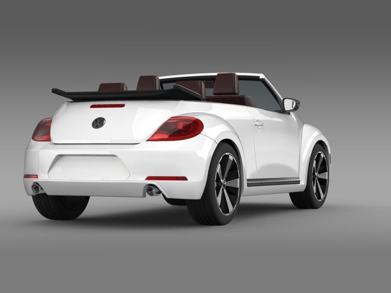 vw beetle cabrio 2013 3d model 3ds max fbx c4d lwo ma mb hrc xsi obj 147383