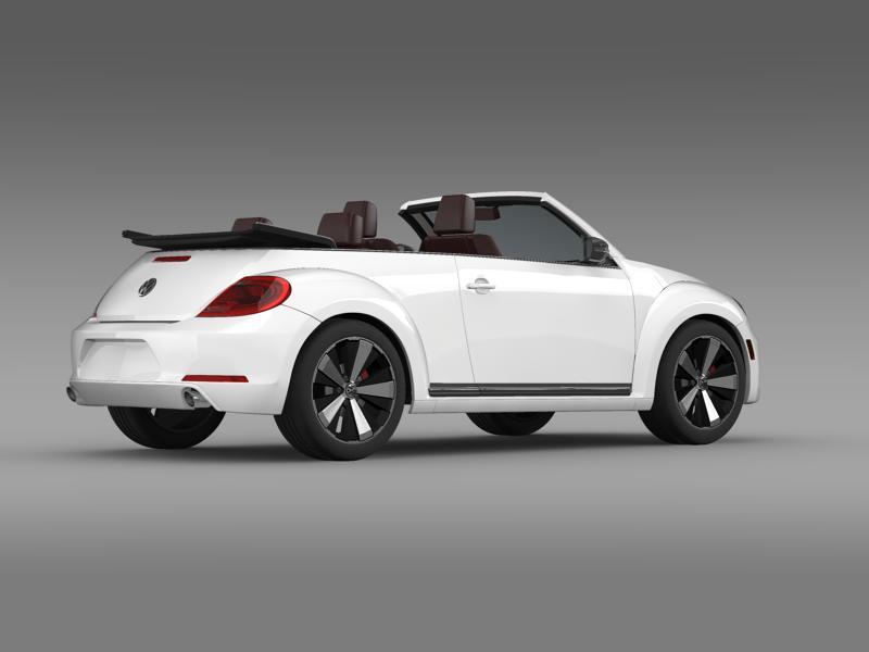 vw beetle cabrio 2013 3d model 3ds max fbx c4d lwo ma mb hrc xsi obj 147384