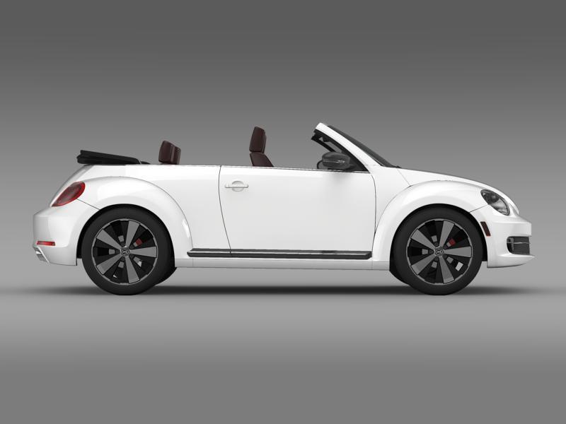 vw beetle cabrio 2013 3d model 3ds max fbx c4d lwo ma mb hrc xsi obj 147385