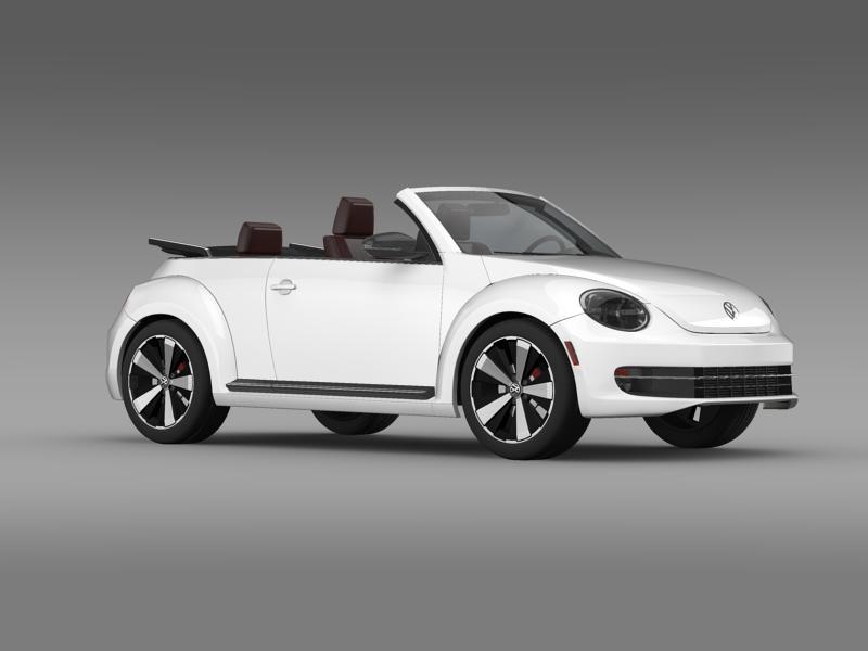vw beetle cabrio 2013 3d model 3ds max fbx c4d lwo ma mb hrc xsi obj 147386