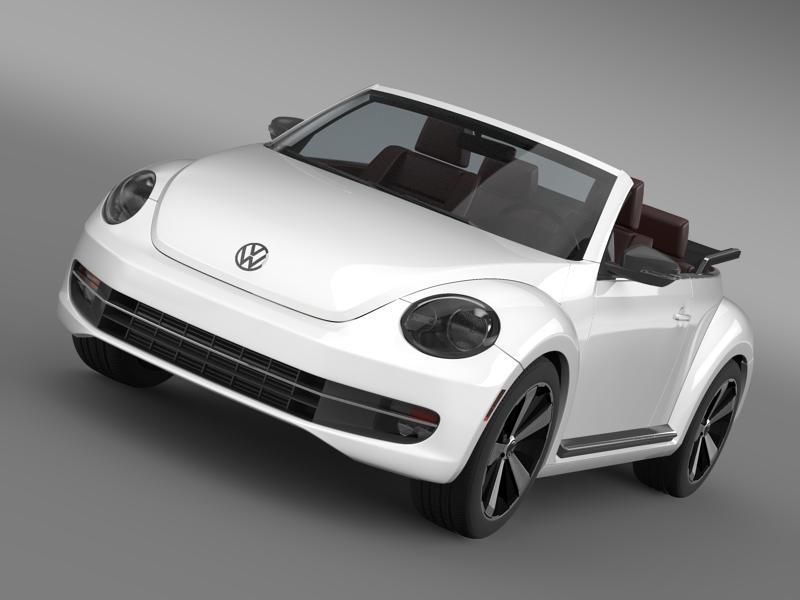 vw beetle cabrio 2013 3d model 3ds max fbx c4d lwo ma mb hrc xsi obj 147388