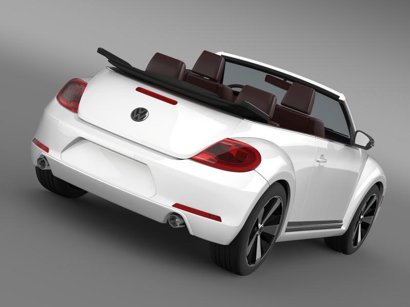 vw beetle cabrio 2013 3d model 3ds max fbx c4d lwo ma mb hrc xsi obj 147389