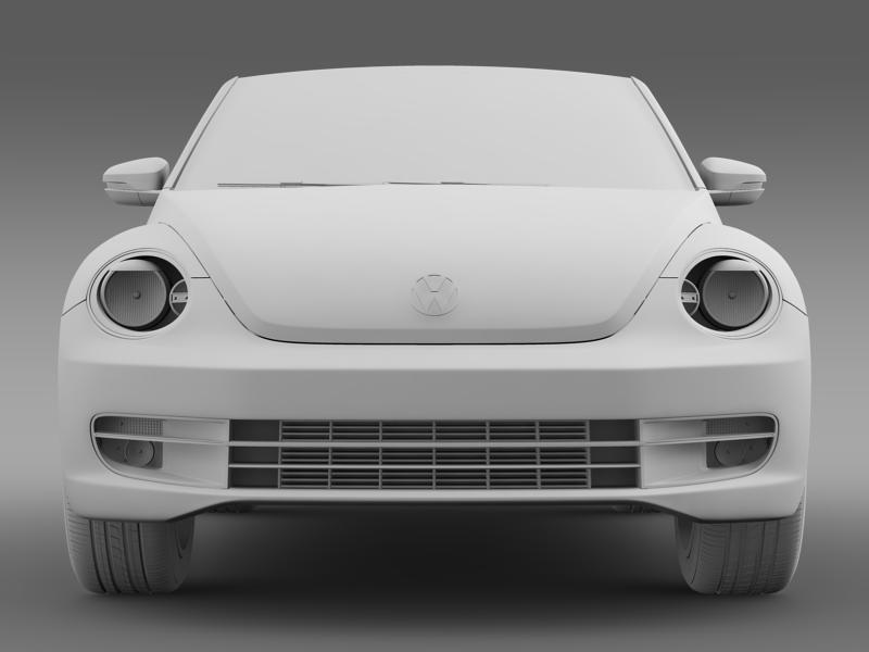 vw beetle cabrio 2013 3d model 3ds max fbx c4d lwo ma mb hrc xsi obj 147390