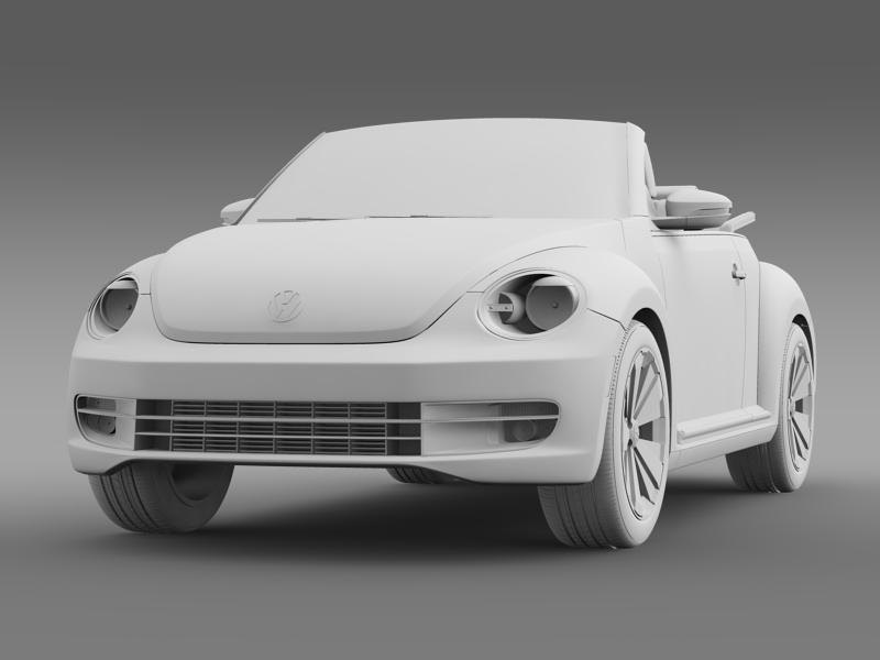 vw beetle cabrio 2013 3d model 3ds max fbx c4d lwo ma mb hrc xsi obj 147391