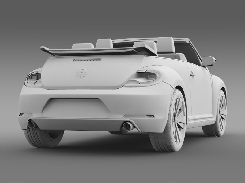vw beetle cabrio 2013 3d model 3ds max fbx c4d lwo ma mb hrc xsi obj 147392