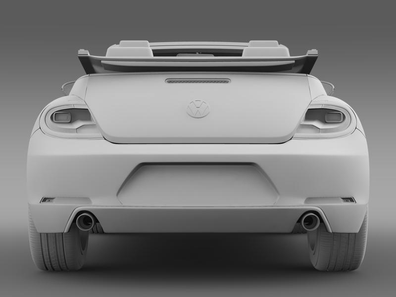 vw beetle cabrio 2013 3d model 3ds max fbx c4d lwo ma mb hrc xsi obj 147393