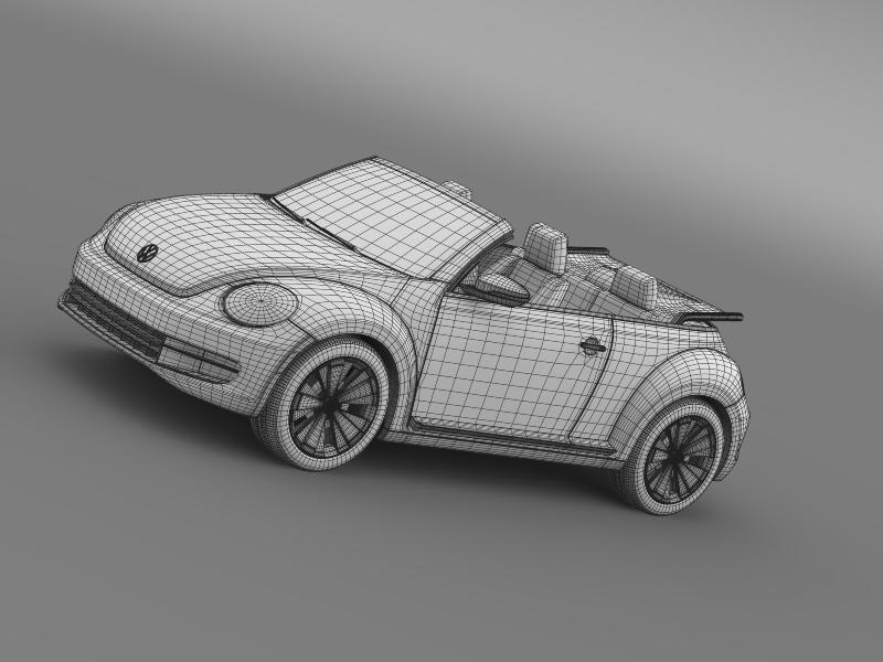 vw beetle cabrio 2013 3d model 3ds max fbx c4d lwo ma mb hrc xsi obj 147394