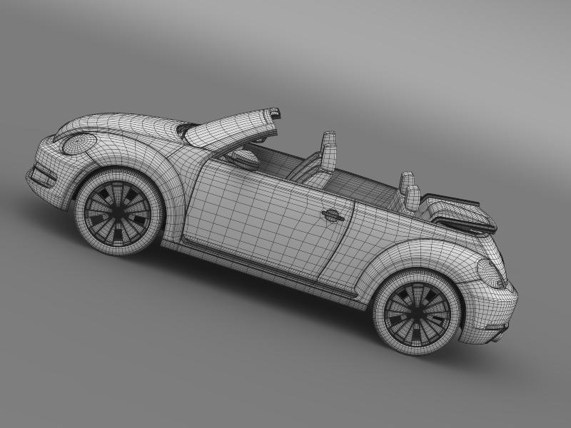 vw beetle cabrio 2013 3d model 3ds max fbx c4d lwo ma mb hrc xsi obj 147395