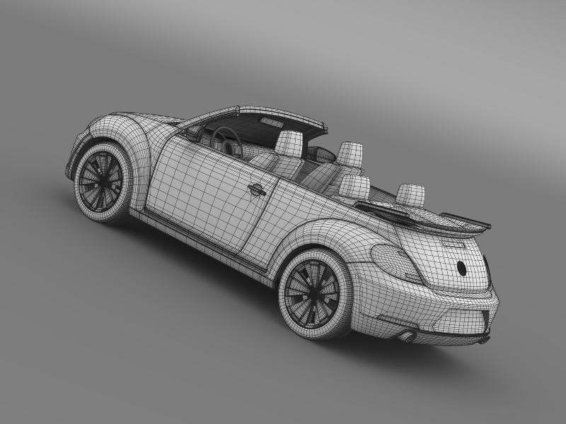 vw beetle cabrio 2013 3d model 3ds max fbx c4d lwo ma mb hrc xsi obj 147396