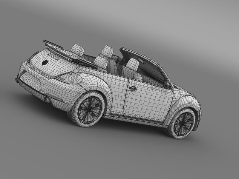 vw beetle cabrio 2013 3d model 3ds max fbx c4d lwo ma mb hrc xsi obj 147397