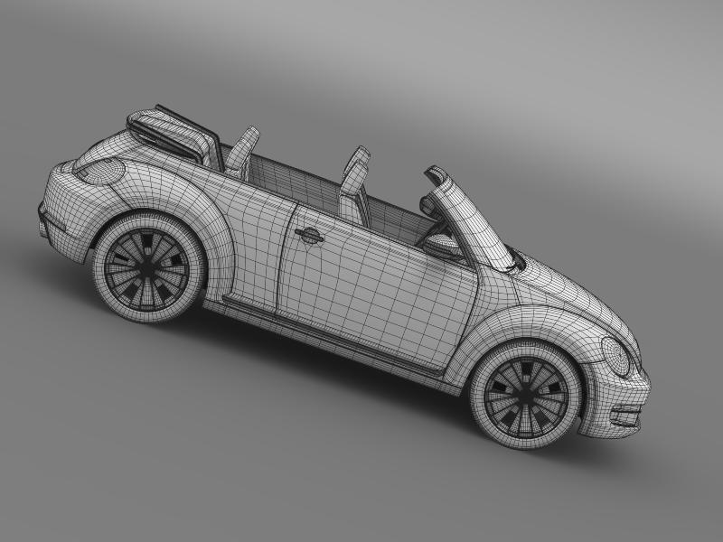 vw beetle cabrio 2013 3d model 3ds max fbx c4d lwo ma mb hrc xsi obj 147398