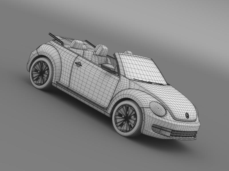 vw beetle cabrio 2013 3d model 3ds max fbx c4d lwo ma mb hrc xsi obj 147399