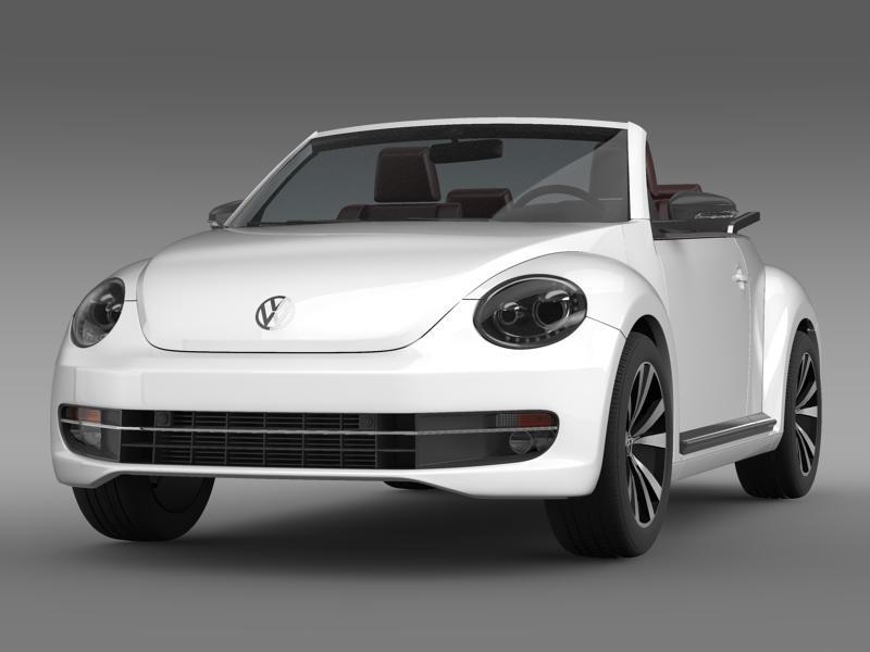 vw beetle cabrio sport 3d model 3ds max fbx c4d lwo ma mb hrc xsi obj 147400