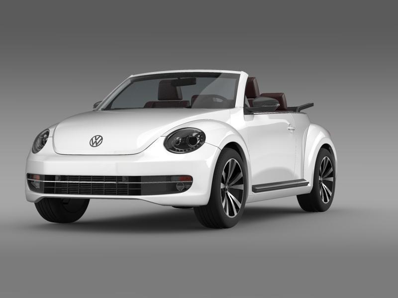 vw beetle cabrio sport 3d model 3ds max fbx c4d lwo ma mb hrc xsi obj 147401