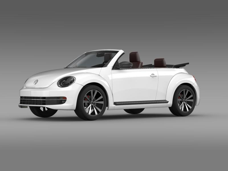vw beetle cabrio sport 3d model 3ds max fbx c4d lwo ma mb hrc xsi obj 147402