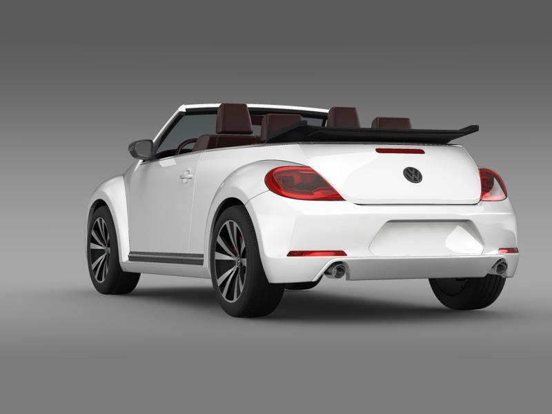 vw beetle cabrio sport 3d model 3ds max fbx c4d lwo ma mb hrc xsi obj 147405
