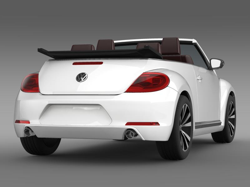 vw beetle cabrio sport 3d model 3ds max fbx c4d lwo ma mb hrc xsi obj 147406