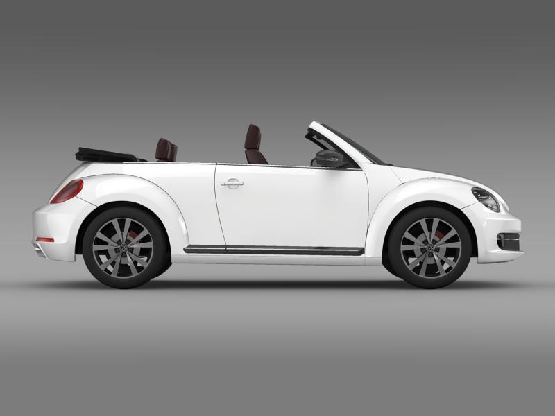 vw beetle cabrio sport 3d model 3ds max fbx c4d lwo ma mb hrc xsi obj 147409