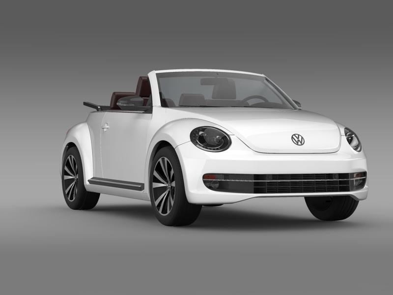 vw beetle cabrio sport 3d model 3ds max fbx c4d lwo ma mb hrc xsi obj 147411