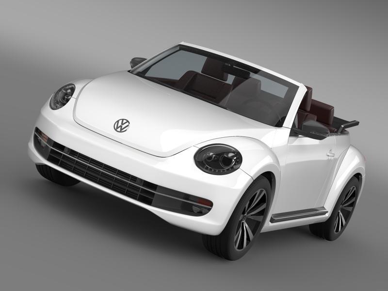 vw beetle cabrio sport 3d model 3ds max fbx c4d lwo ma mb hrc xsi obj 147412