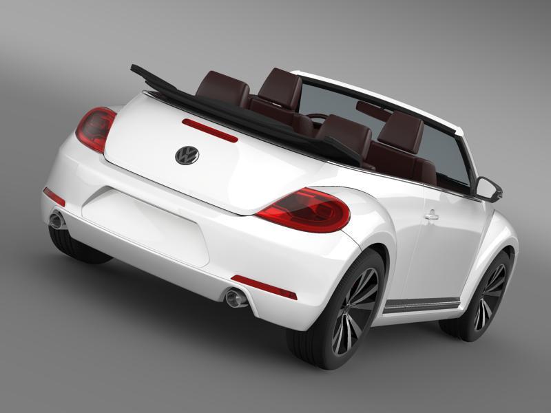 vw beetle cabrio sport 3d model 3ds max fbx c4d lwo ma mb hrc xsi obj 147413