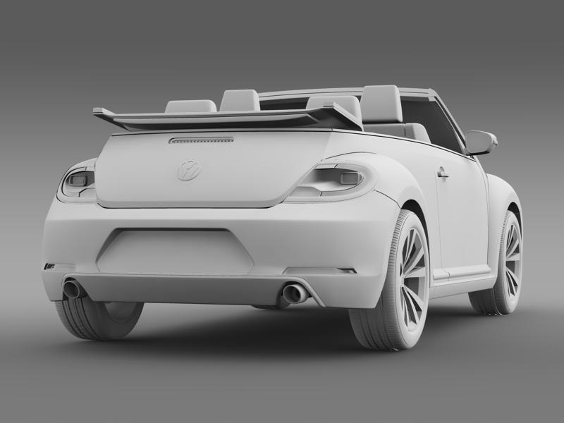 vw beetle cabrio sport 3d model 3ds max fbx c4d lwo ma mb hrc xsi obj 147416