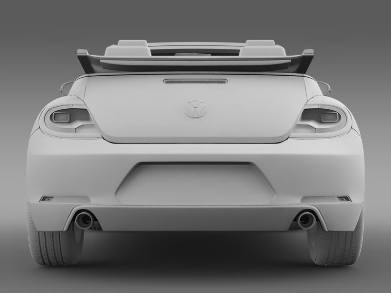 vw beetle cabrio sport 3d model 3ds max fbx c4d lwo ma mb hrc xsi obj 147417