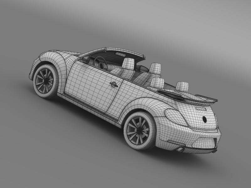 vw beetle cabrio sport 3d model 3ds max fbx c4d lwo ma mb hrc xsi obj 147420