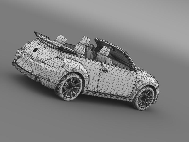 vw beetle cabrio sport 3d model 3ds max fbx c4d lwo ma mb hrc xsi obj 147421