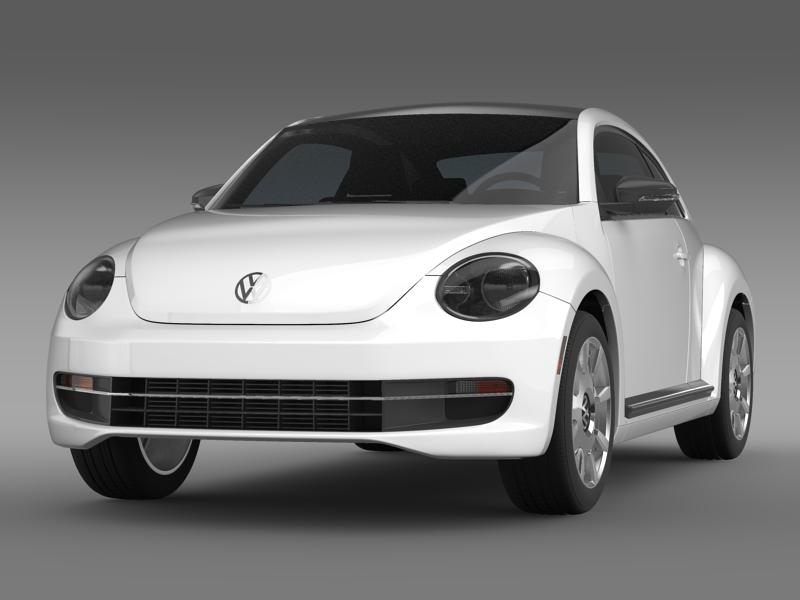 vw beetle design 2012 3d model 3ds max fbx c4d lwo ma mb hrc xsi obj 147424