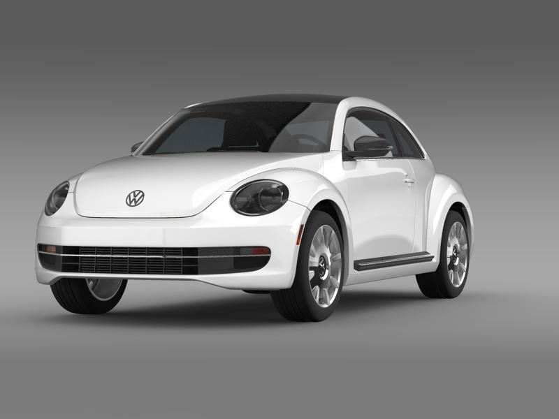vw beetle design 2012 3d model 3ds max fbx c4d lwo ma mb hrc xsi obj 147425