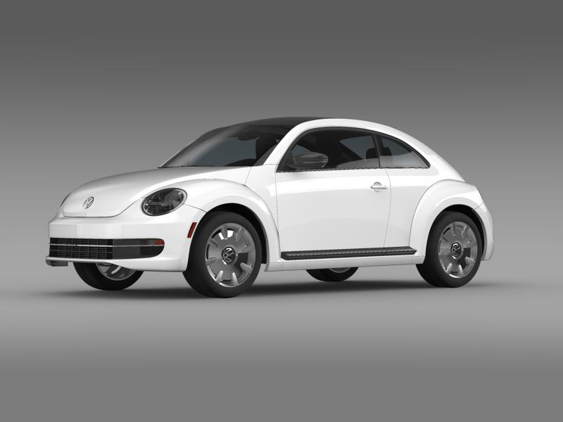 vw beetle design 2012 3d model 3ds max fbx c4d lwo ma mb hrc xsi obj 147426