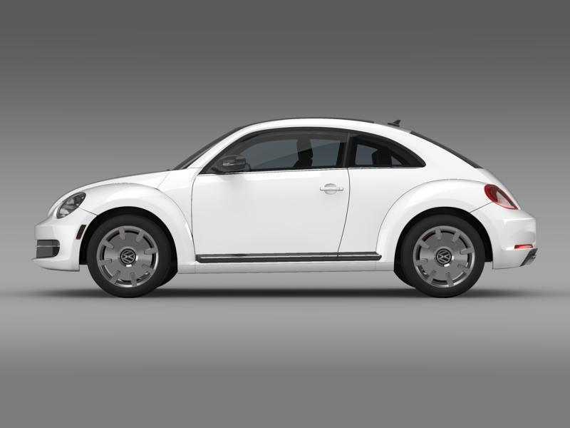 vw beetle design 2012 3d model 3ds max fbx c4d lwo ma mb hrc xsi obj 147427