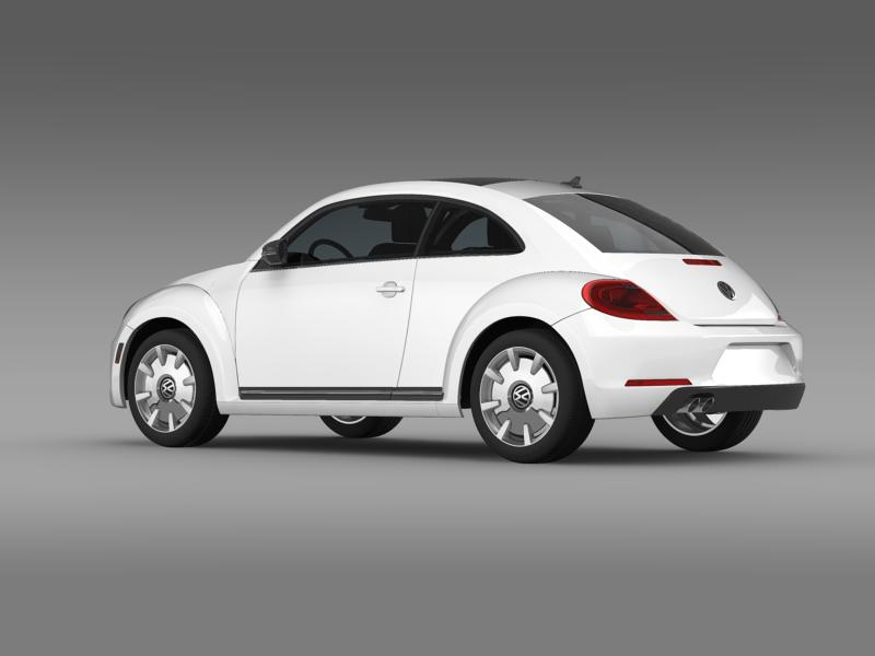 vw beetle design 2012 3d model 3ds max fbx c4d lwo ma mb hrc xsi obj 147428