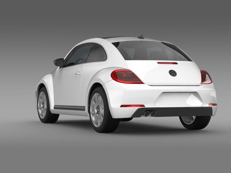 vw beetle design 2012 3d model 3ds max fbx c4d lwo ma mb hrc xsi obj 147429