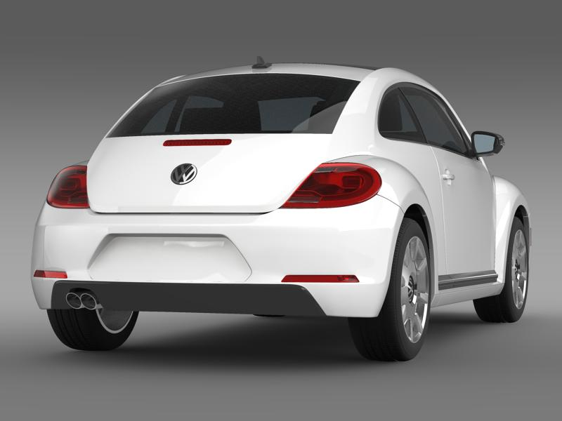 vw beetle design 2012 3d model 3ds max fbx c4d lwo ma mb hrc xsi obj 147430