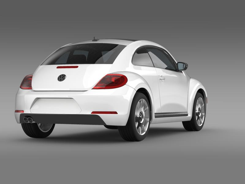 vw beetle design 2012 3d model 3ds max fbx c4d lwo ma mb hrc xsi obj 147431