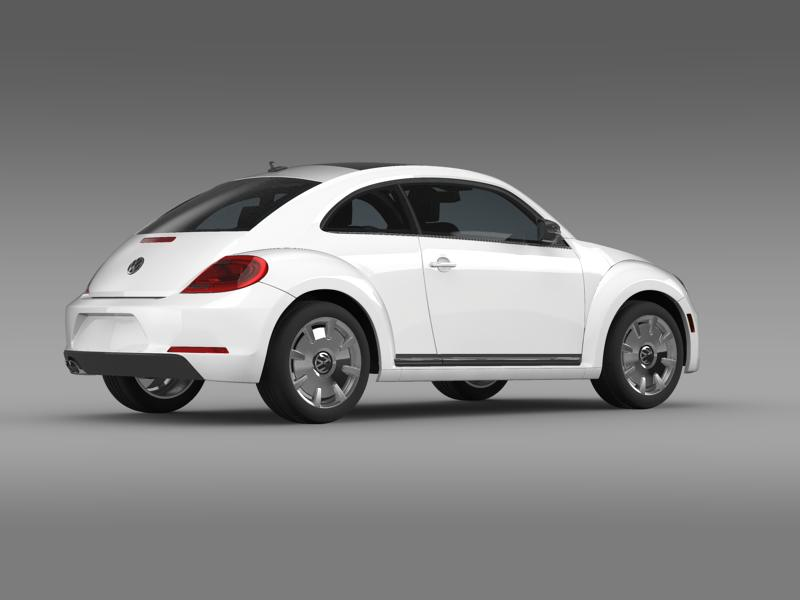 vw beetle design 2012 3d model 3ds max fbx c4d lwo ma mb hrc xsi obj 147432
