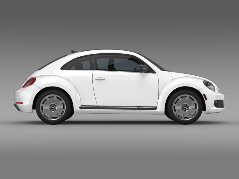 vw beetle design 2012 3d model 3ds max fbx c4d lwo ma mb hrc xsi obj 147433