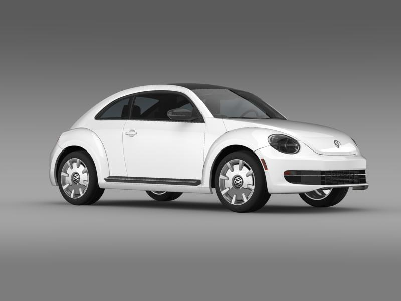 vw beetle design 2012 3d model 3ds max fbx c4d lwo ma mb hrc xsi obj 147434
