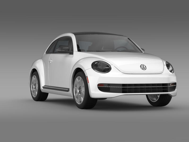 vw beetle design 2012 3d model 3ds max fbx c4d lwo ma mb hrc xsi obj 147435