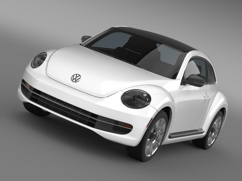 vw beetle design 2012 3d model 3ds max fbx c4d lwo ma mb hrc xsi obj 147436