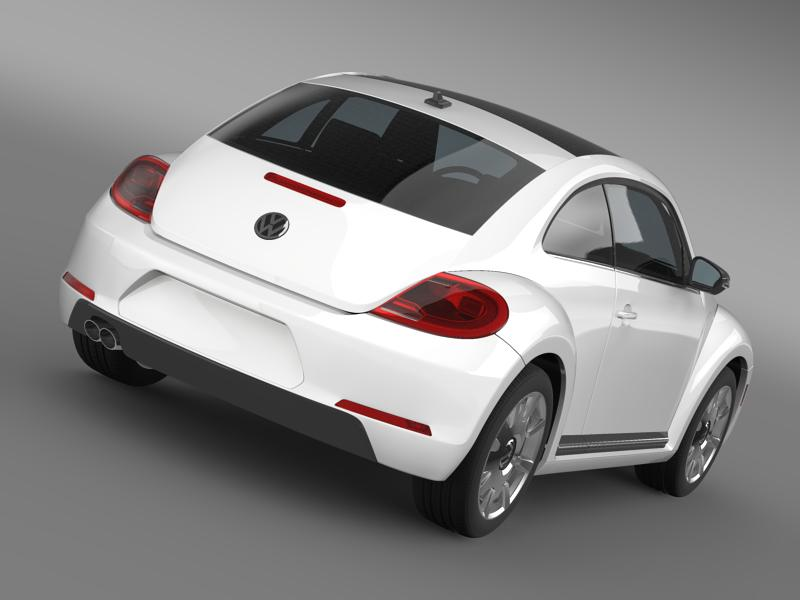 vw beetle design 2012 3d model 3ds max fbx c4d lwo ma mb hrc xsi obj 147437