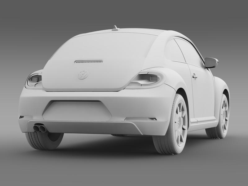 vw beetle design 2012 3d model 3ds max fbx c4d lwo ma mb hrc xsi obj 147440