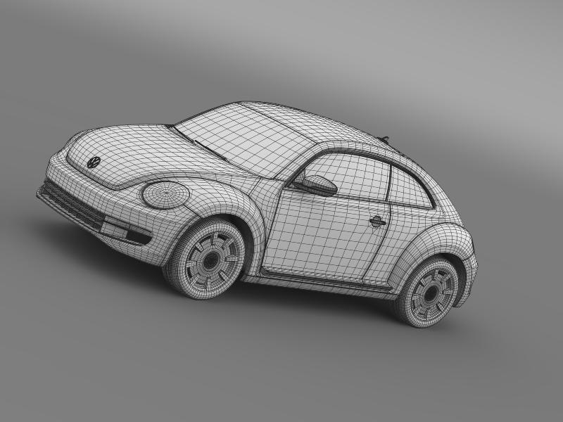 vw beetle design 2012 3d model 3ds max fbx c4d lwo ma mb hrc xsi obj 147442