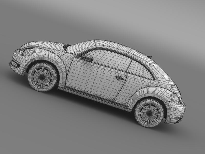 vw beetle design 2012 3d model 3ds max fbx c4d lwo ma mb hrc xsi obj 147443