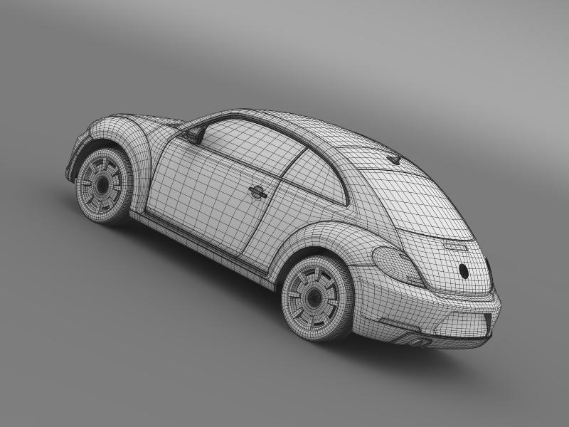 vw beetle design 2012 3d model 3ds max fbx c4d lwo ma mb hrc xsi obj 147444